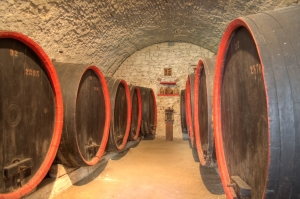 Wine cellar in a Romanian peasant fortress