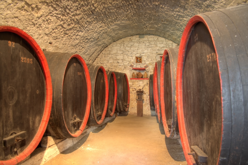 Wine cellar in a Romanian peasant fortress