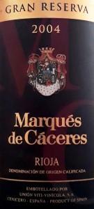 Rioja-Marqués de Cáceres-Gran Reserva-2004